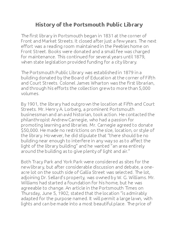 History of the Portsmouth Library.pdf