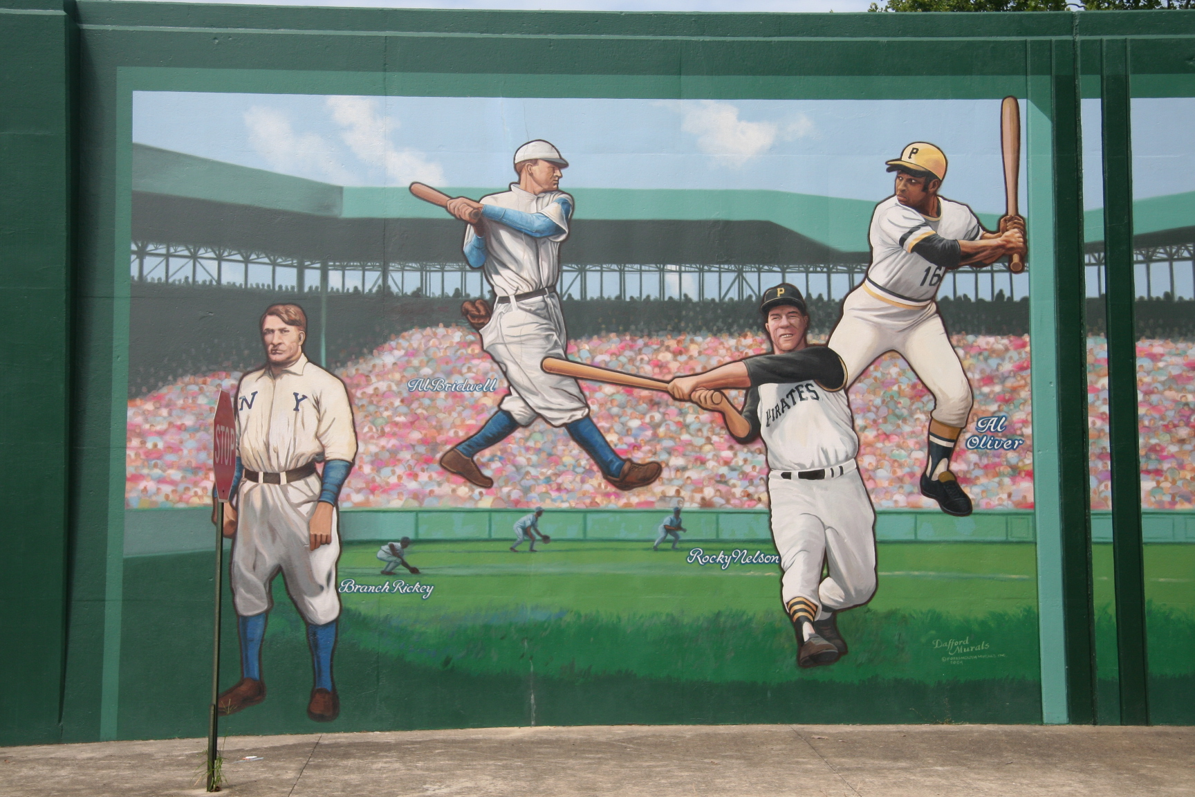 Portsmouth Floodwall - Baseball Murals on Madison Street