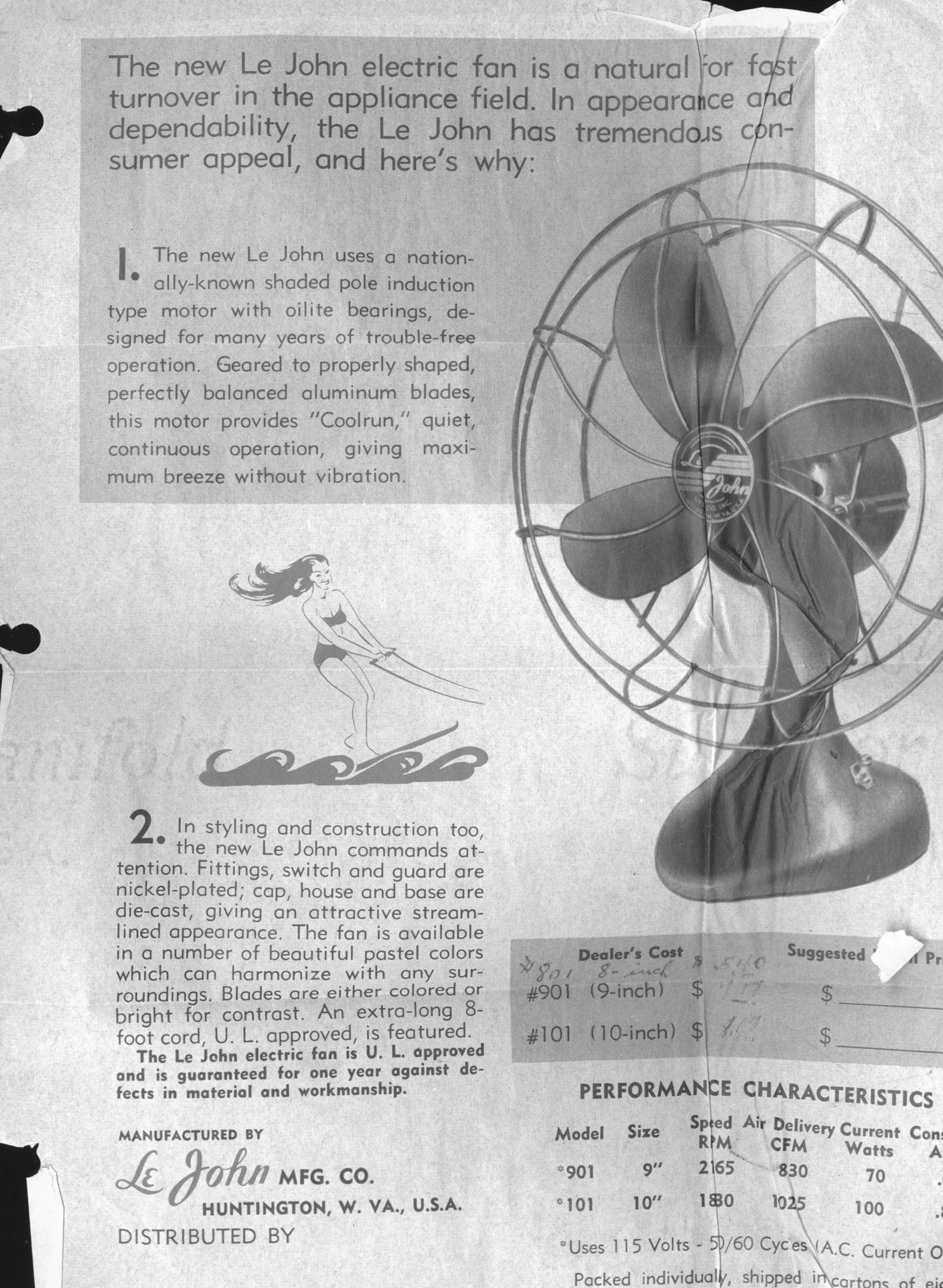 Le John Electric Fan Local History Digital Collection Without Blade Manufacturers 2016 08 31 0107