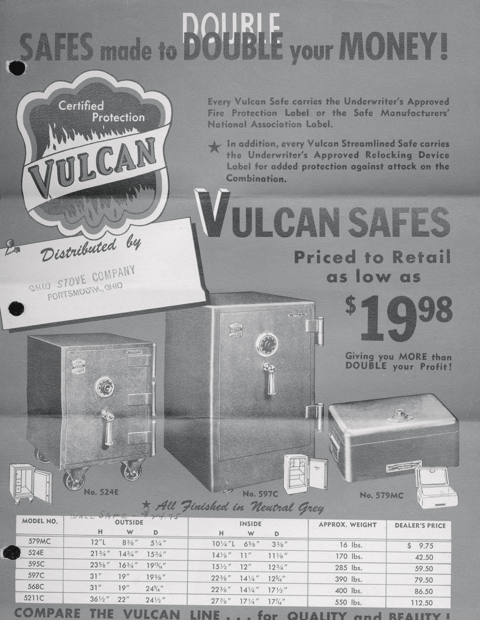 Vulcan Safes · Local History Digital Collection