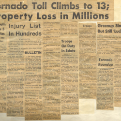 Newspaper articles about the tornado