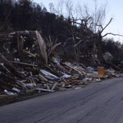 Tornado aftermath: looking East on Gallia Street