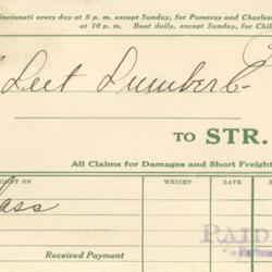 Freight Invoice to H. Leet Lumber Co.