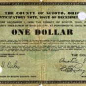 Scioto County Tax Anticipatory Note $5.00