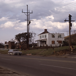 Homes destroyed by the tornado on Ohio River Road