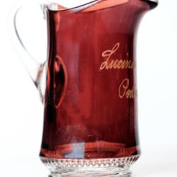 Lucinda Goodrich glass pitcher