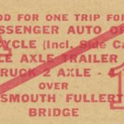 Portsmouth Fullerton Bridge ticket