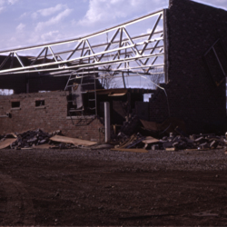 Reinhardt's Transfer building destroyed by tornado on Ohio River Road
