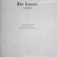 1920 Portsmouth High School Yearbook