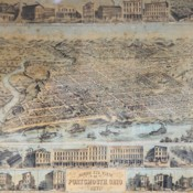 Lithograph of Bird's Eye View of Portsmouth 1871
