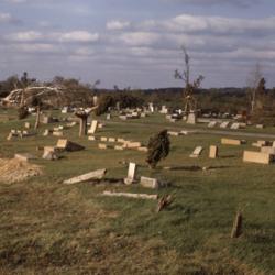 Old Wheelersburg Cemetery, tornado aftermath