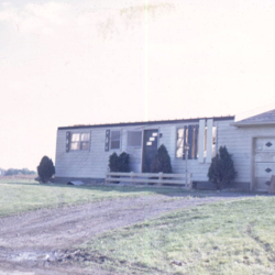 Home destroyed by the tornado