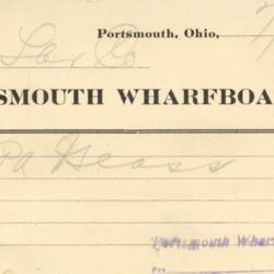 Portsmouth Wharfboat Co. Freight Invoice