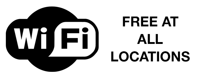 Free wifi access at all library locations