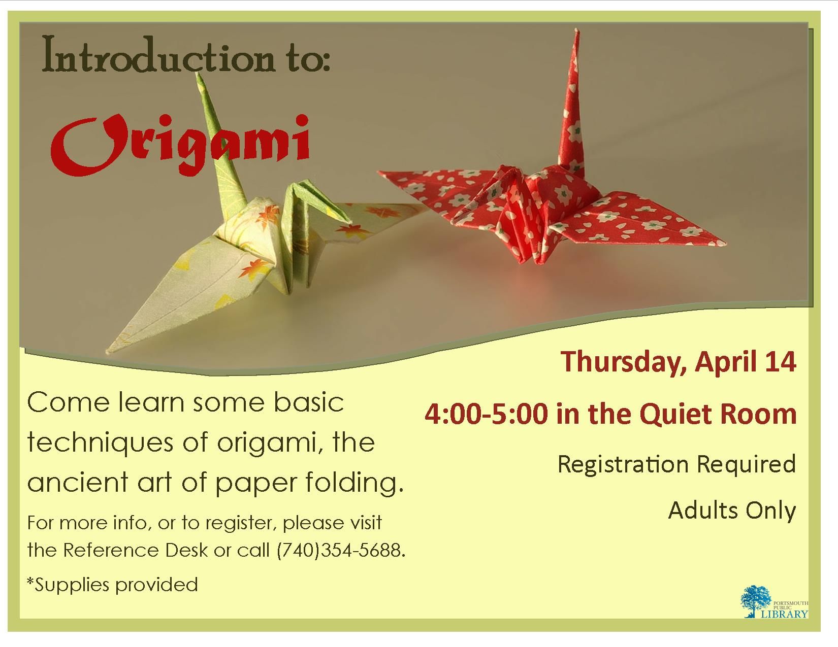 Alex Origami Flyer Apr2016