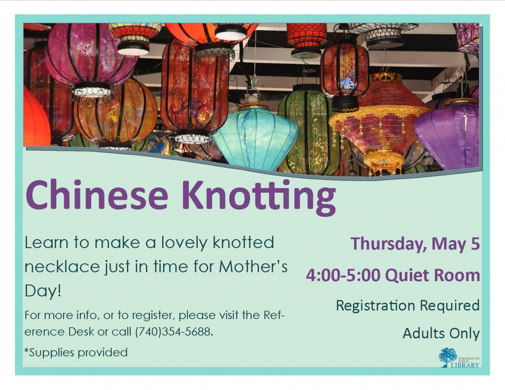 Alex Chinese Knotting Flyer May2016