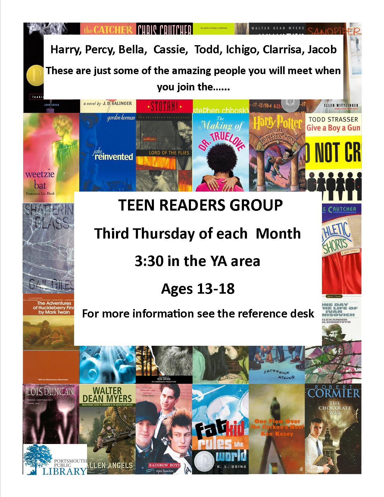 Trever YA Book Group NEW FOR WEBSITE April2016