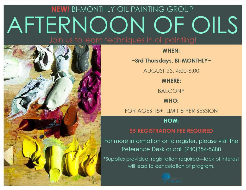 Alex Bi-Monthly Afternoon of Oils Aug2016