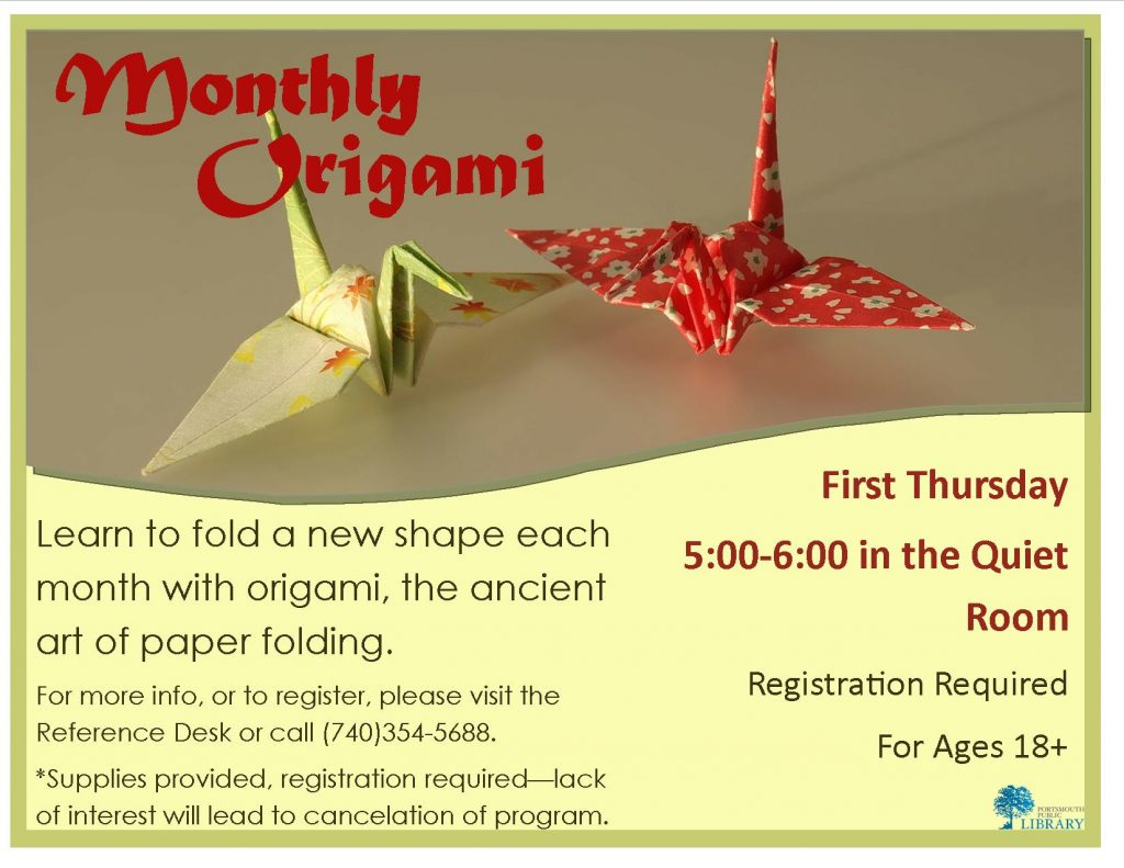 Alex Monthly Origami July Aug Sept 2016