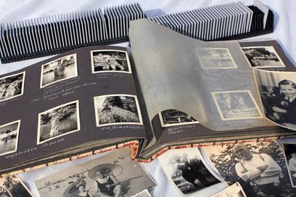 Alte Fotos, Fotoalbum und Diamagazine