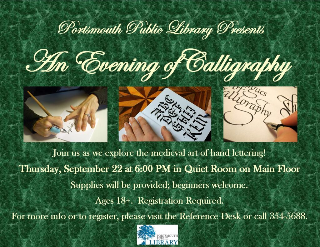 Taryn Evening of Calligraphy Sept2016