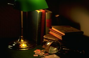 Mystery-books-with-magnifying-glass