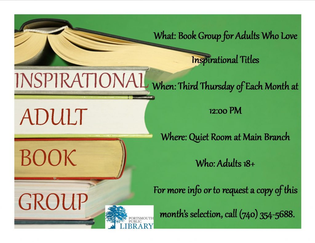 KRISTIN INSPIRATONAL BOOK GROUP NEW MAY 2016