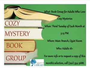 PAIGE COZY MYSTERY FLYER MAIN OCT 2016