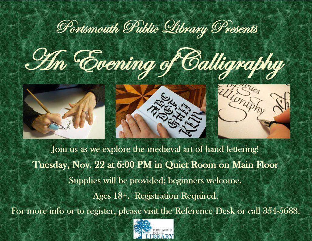 Taryn Evening of Calligraphy Nov2016
