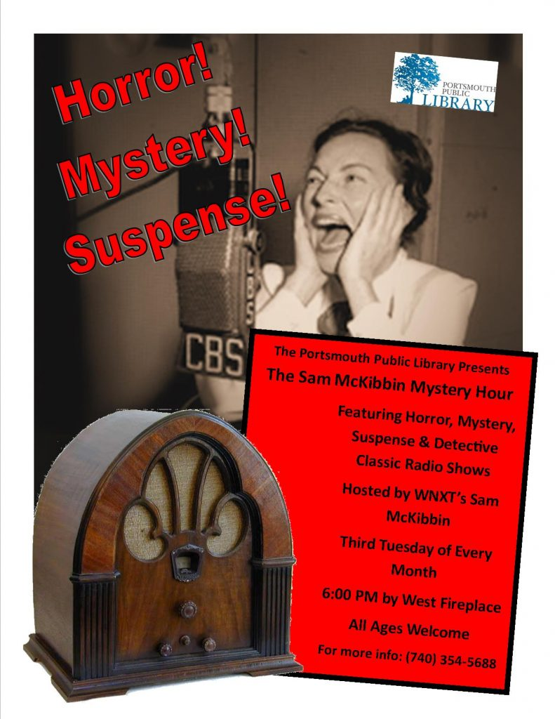 Taryn Sam McKibbin Mystery Hour Flyer for Website