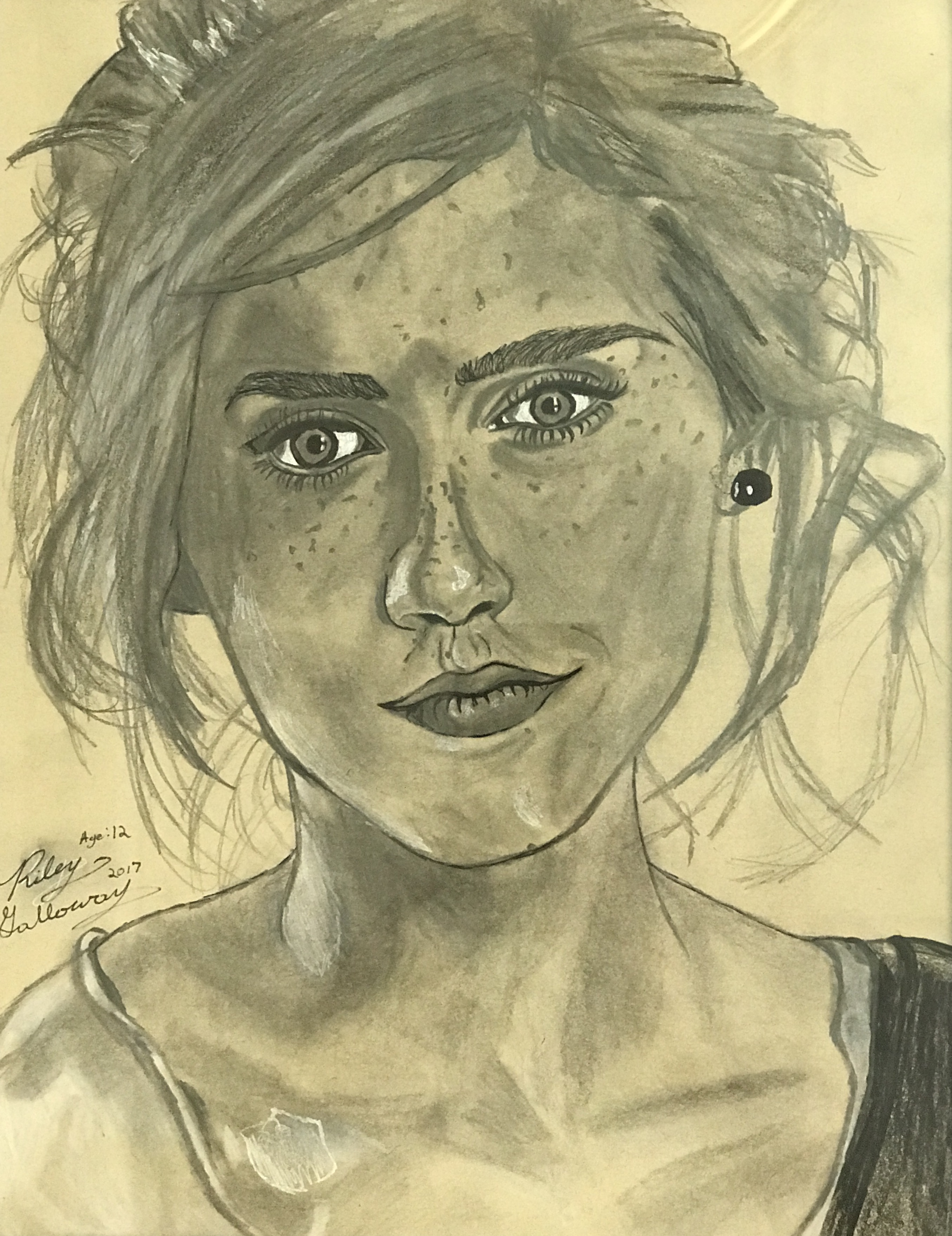 Emma Stone Youth Drawing