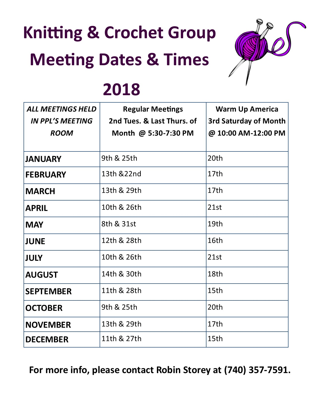 Knitting Events 2018 : Knitting crochet group portsmouth public library
